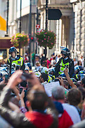 "Protestors clash with Police as they attempt to implement COVID19 Law against thousands of those who gathered in London's Trafalgar Square across the UK on Saturday, Sept 19, 2020 - afternoon to protest against coronavirus restrictions and reject mass vaccinations. The event, which began at noon, drew a broad coalition including coronavirus sceptics, 5G conspiracy theorists and so-called ""anti-vaxxers"". Speakers at the event accused the government of attempting to curtail civil liberties. (VXP Photo/ Erica Dezonne)"