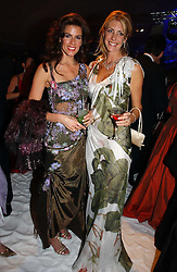 Left to right, CHRISTINA JUFFALI she was Christina Estrada and BARONESS STEPHEN BENTINCK, she is actress Lisa Hogan at the British Red Cross London Ball held at The Room by The River, 99 Upper Ground, London SE1 on 16th November 2006.<br />