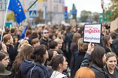 Warshaw: Women's Strike in Poland, 3 October 2016