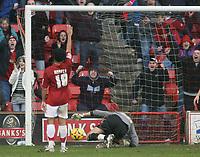 Photo: Mark Stephenson.<br />Walsall v Barnet. Coca Cola League 2. 24/02/2007. Walsall's Kevin Harper scores again