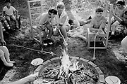Toasting marshmallows at a picnic for the children in the grounds of the InstituteThe Peto Institute, Budapest, Hungary