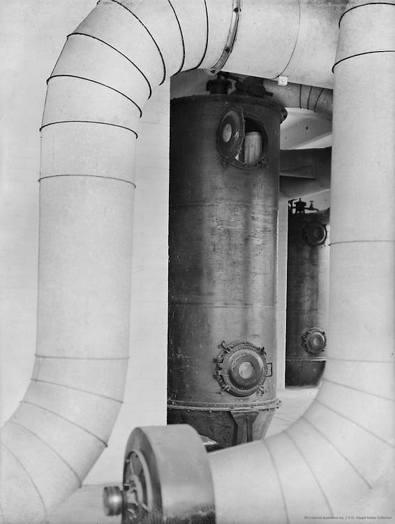 Pipes and Boiler, Cadbury Factory, England, 1928