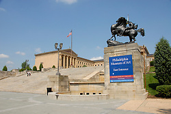 Exterior of Philadelphia Museum of Art..Philadelphia, Pennsylvania, PA USA.  Photo copyright Lee Foster, 510-549-2202, lee@fostertravel.com, www.fostertravel.com. Photo 202-30915
