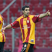 Galatasaray's Juan Emmanuel CULIO celebrate his goal during their Turkish Super League soccer match Galatasaray between Konyaspor at the T T Arena at Seyrantepe in Istanbul Turkey on Sunday, 20 May 2011. Photo by TURKPIX