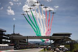 June 3, 2018 - Mugello, FI, Italy - The Italian air show before the MotoGP Oakley Grand Prix of Italy, at International  Circuit of Mugello, on May 31, 2018 in Mugello, Italy  (Credit Image: © Danilo Di Giovanni/NurPhoto via ZUMA Press)