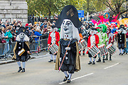 The new Lord Mayor (Peter Estlin, the 691st) was sworn in yesterday. To celebrate, today is the annual Lord Mayor's Show. It includes Military bands, vintage buses, Dhol drummers, a combine harvester and a giant nodding dog in the three-mile-long procession. It brings together over 7,000 people, 200 horses and 140 motor and steam-driven vehicles in an event that dates back to the 13th century. The Lord Mayor of the City of London rides in the gold State Coach.