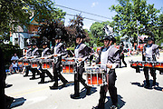The Oregon Marching Band marches in the Oregon Summerfest Parade in Oregon, Wisconsin on June 28, 2009.
