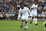 Renato Sanches of Swansea city in action. Premier league match, Swansea city v Newcastle Utd at the Liberty Stadium in Swansea, South Wales on Sunday 10th September 2017.<br /> pic by  Andrew Orchard, Andrew Orchard sports photography.