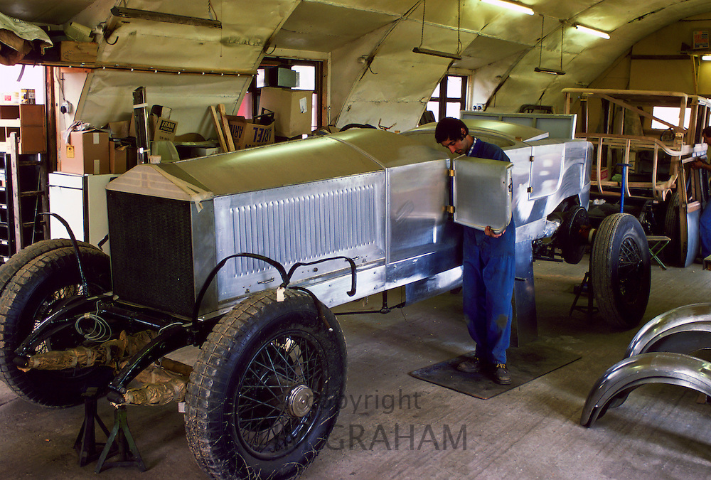 Restoration of a rare vintage Rolls Royce, Gloucestershire, England