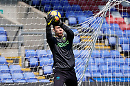 Leeds United U23 warm up during the U23 Professional Development League match between U23 Crystal Palace and Leeds United at Selhurst Park, London, England on 15 April 2019.