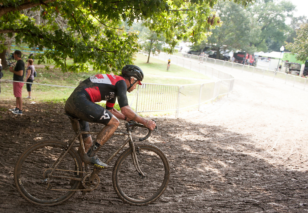 Cyclists compete in the 2018 Charm City Cross at Druid Hill Park in Baltimore, Maryland. <br /> <br /> Jack Megaw. All Rights Reserved.