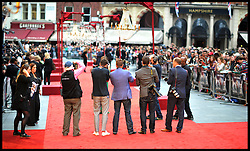 Photographers on the red carpet wait for arrivials for the - UK film premiere of Anna Karenina, London, Tuesday September 4, 2012 Photo Andrew Parsons/i-Images..All Rights Reserved ©Andrew Parsons/i-Images