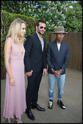 SUKIE WATERHOUSE; BRADLEY COOPER; PHARRELL WILLIAMS, 2014 Serpentine's summer party sponsored by Brioni.with a pavilion designed this year by Chilean architect Smiljan Radic  Kensington Gdns. London. 1July 2014