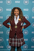 Paige Moore poses for a photograph during the Scholars banquet, April 12, 2016.