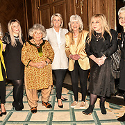 Miriam Margolyes, Jilly Cooper, Helen Lederer and guests attend the 7th annual Churchill Awards honour achievements of the Over 65's at Claridge's Hotel on 10 March 2019, London, UK.