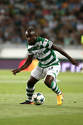 August 15, 2017 - Lisbon, Portugal - Sporting's forward Seydou Doumbia from Ivory Coast in action during the UEFA Champions League play-offs first leg football match between Sporting CP and FC Steaua Bucuresti at the Alvalade stadium in Lisbon, Portugal on August 15, 2017. Photo: Pedro Fiuza (Credit Image: © Pedro Fiuza via ZUMA Wire)