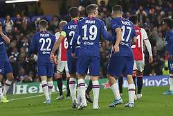 November 5, 2019: bAMSTERDAM, NETHERLANDS - OCTOBER 22, 2019: Ajax squad pictured during the 2019/20 UEFA Champions League Group H game between Chelsea FC (England) and AFC Ajax (Netherlands) at Stamford Bridge. (Credit Image: © Federico Guerra Maranesi/ZUMA Wire)