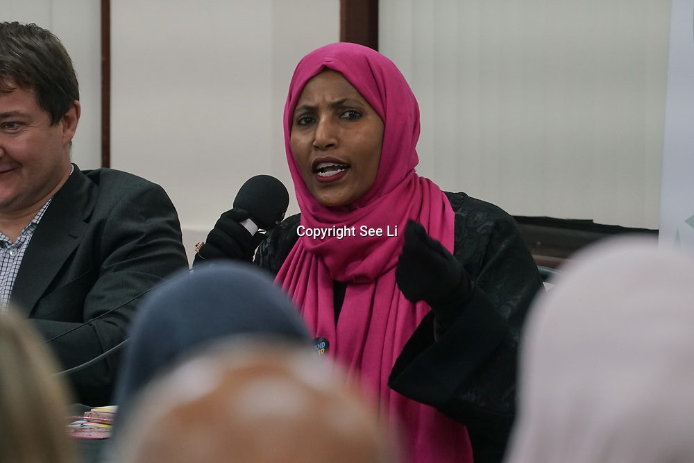London, Uk. 15th October 2017. Cllr Rakhia Ismail of Islington Council join the discussion Hate Crime Against Muslim Women.