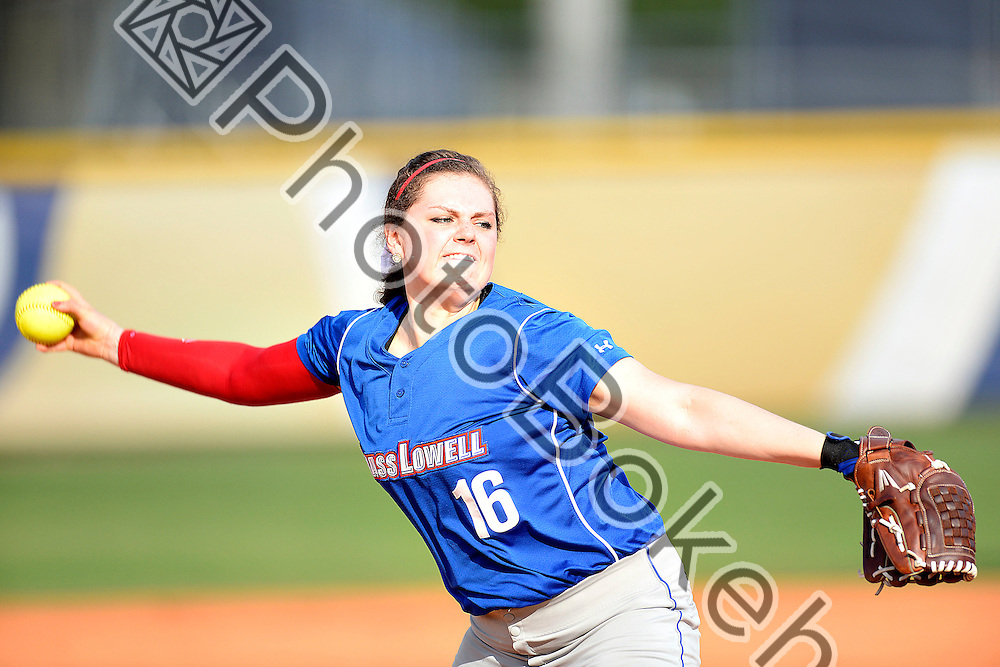 2015 March 17 - UMass Lowell's Marielle Handley (16). Florida International University defeated UMass Lowell, 9-1, in 6 innings at Felsberg Field, Miami, Florida. (Photo by: Alex J. Hernandez / photobokeh.com) This image is copyright by PhotoBokeh.com and may not be reproduced or retransmitted without express written consent of PhotoBokeh.com. ©2015 PhotoBokeh.com - All Rights Reserved