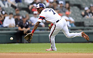 CHICAGO - SEPTEMBER 29:  Tim Anderson #7 of the Chicago White Sox fields against the Detroit Tigers on September 29, 2019 at Guaranteed Rate Field in Chicago, Illinois.  (Photo by Ron Vesely)  Subject:   Tim Anderson