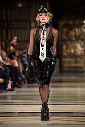 Ellie Rae Winstone on the catwalk during the Pam Hogg Autumn/Winter 2017 London Fashion Week show at the Fashion Scout venue in Freemason's Hall, London. Picture date: Saturday February 19th, 2017. Photo credit should read: Matt Crossick/ EMPICS Entertainment.