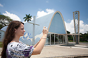 Belo Horizonte_MG, 18 de Novembro de 2010...Jornal Estado de Minas / Pampulha..Imagens da Igreja Sao Francisco de Assis da Pampulha, projeto arquitetonico da igreja e de Oscar Niemeyer...Foto: JOAO MARCOS ROSA / NITRO