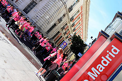 May 7, 2017 - Madrid, Spain - Tens of thousands of urban runners have participated in ''La carrera de la Mujer'', Women's fun run. It is the biggest women's sports celebration in Madrid, raising money for breast cancer charities. It covers approximately 6.3 km in the city center. (Credit Image: © M. RamíRez/Pacific Press via ZUMA Wire)