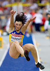 Viktoriya Molchanova of Ukraine competes in the women's Long Jump Qualification during day seven of the 12th IAAF World Athletics Championships at the Olympic Stadium on August 21, 2009 in Berlin, Germany.(Photo by Vid Ponikvar / Sportida)