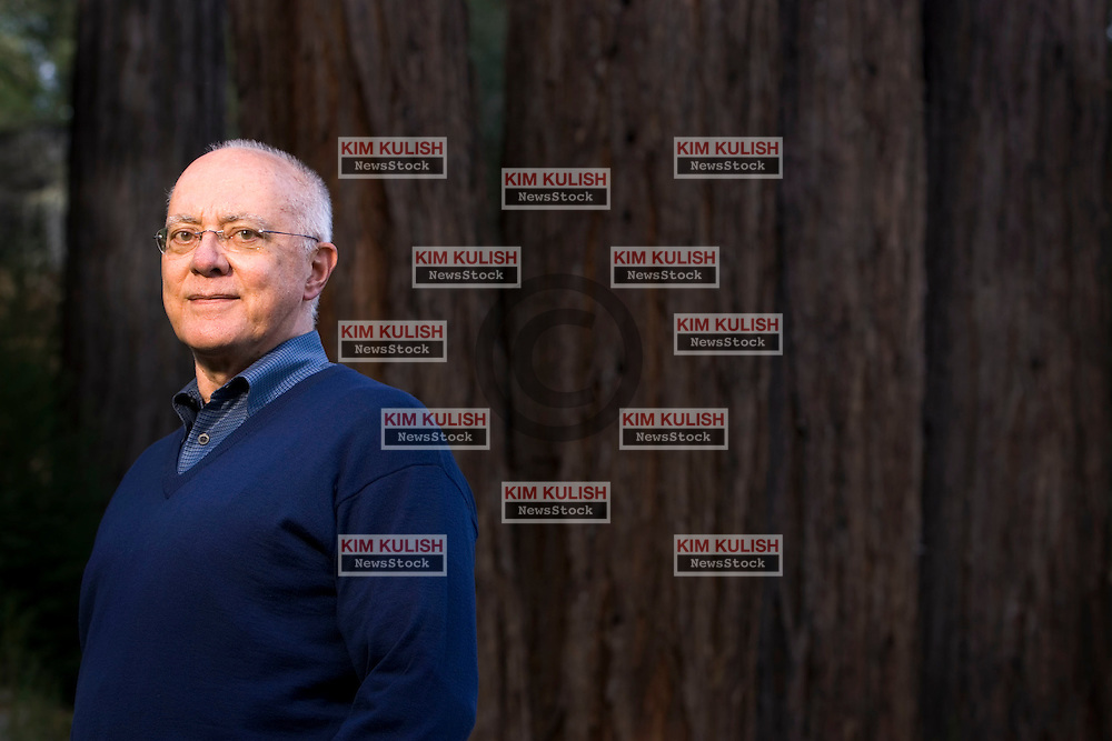 Portrait of Ralph Kimball under the giant Redwoods outside his home near Los Gatos, Calif.  Kimball is known worldwide as an innovator, writer, educator, speaker and consultant in the field of data warehousing. He has remained steadfast in his long-term conviction that data warehouses must be designed to be understandable and fast.  Photo by Kim Kulish