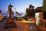 Park Semper Fi Monument At Dusk In San Clemente