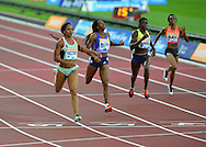 USA's Natashe Hastings wins the Womens 400m at the Sainsbury's Anniversary Games at the Queen Elizabeth II Olympic Park, London, United Kingdom on 24 July 2015. Photo by Mark Davies.