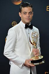 Rami Malek  im Press Room bei der Verleihung der 68. Primetime Emmy Awards in Los Angeles / 180916<br /> <br /> *** 68th Primetime Emmy Awards in Los Angeles, California on September 18th, 2016***