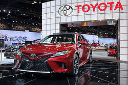 09 February 2017: 2018 Toyota Camry XSE<br /> <br /> First staged in 1901, the Chicago Auto Show is the largest auto show in North America and has been held more times than any other auto exposition on the continent.  It has been  presented by the Chicago Automobile Trade Association (CATA) since 1935.  It is held at McCormick Place, Chicago Illinois<br /> #CAS17