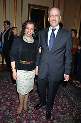The Egyptian Ambassador HE GEHAD MADI, his wife MRS GEHAD MADI at a party to celebrate the publication of The End of Sleep by Rowan Somerville held at the Egyptian Embassy, London on 27th March 2008.<br /><br />NON EXCLUSIVE - WORLD RIGHTS