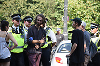 Extinction Rebellion Protesters stop the traffic by the ExCel Centre in London to block the Defence and Security International Arms Fair,photo by Krisztian Elek