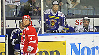 Ishockey , <br /> GET-ligaen , <br /> Kvartfinale , <br /> 12.03.2010 , <br /> Sparta v Stjernen , <br /> Sparta Amfi , <br /> Litt knuffing under kampen førte til at utvisningsboksen ofte var full , <br /> Foto: Thomas Andersen / Digitalsport ,