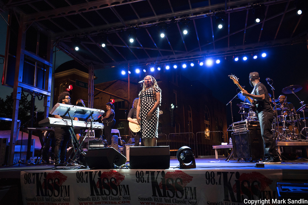 Ledisi in concert in front of the 16th Street Baptist Church