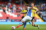 Danny Graham of Blackburn Rovers has a shot from a tight angle during the EFL Sky Bet Championship match between Blackburn Rovers and Burton Albion at Ewood Park, Blackburn, England on 20 August 2016. Photo by Simon Brady.