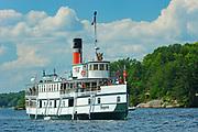 R.M.S. Segwun steamship on Lake Muskoka<br />near Gravenhurst<br />Ontario<br />Canada