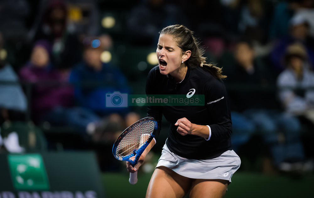 March 9, 2019 - Indian Wells, USA - Julia Goerges of Germany in action during her second-round match at the 2019 BNP Paribas Open WTA Premier Mandatory tennis tournament (Credit Image: © AFP7 via ZUMA Wire)