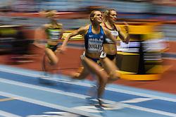 March 2, 2018 - Birmingham, England, United Kingdom - Colleen Quigley ofUnited States at 1500 meter semi final at World indoor Athletics Championship 2018, Birmingham, England on March 2, 2018. (Credit Image: © Ulrik Pedersen/NurPhoto via ZUMA Press)