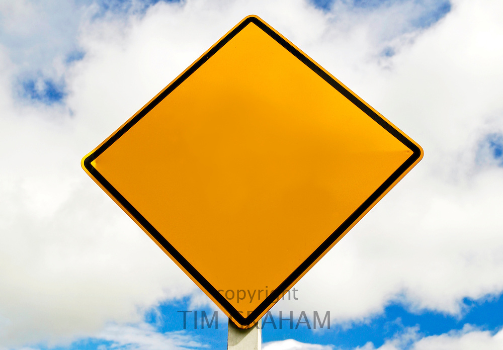 Road traffic sign, North Island, New Zealand