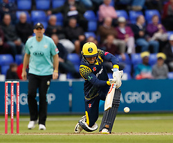 Glamorgan's Kieran Carlson in action today <br /> <br /> Photographer Simon King/Replay Images<br /> <br /> Vitality Blast T20 - Round 14 - Glamorgan v Surrey - Friday 17th August 2018 - Sophia Gardens - Cardiff<br /> <br /> World Copyright © Replay Images . All rights reserved. info@replayimages.co.uk - http://replayimages.co.uk