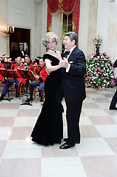 July 15, 2013 - Washington, DC, United States of America - Diana, Princess of Wales dances with US President Ronald Reagan during a White House Gala Dinner November 9, 1985 in Washington, DC. (Credit Image: © Pete Souza/Planet Pix via ZUMA Wire)