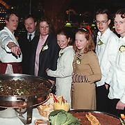 Receptie Rob Blom Rabobank Huizen, buffet gezin