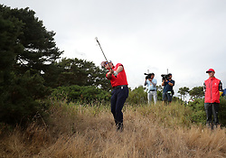 USA's Zach Johnson in the rough on the 12th during day three of The Open Championship 2018 at Carnoustie Golf Links, Angus.