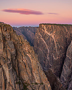 The Painted Wall and Cloud,<br />Black Canyon of the Gunnison National Park,<br />Colorado