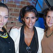 NLD/Amsterdam/20120905- Opening Thimothy Oulton shop Amsterdam, Caroline Spoor, Kristina Bozilovic en Marly van der Velden
