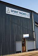 Spirit Yachts boatyard, Ipswich Wet Dock waterside redevelopment, Ipswich, Suffolk, England, Uk