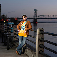 03/27/19 -<br /> <br /> Beth Markesino, photographed near the Cape Fear River on the riverwalk in downtown Wilmington, NC.<br /> <br /> Photo by Michael Cline Spencer